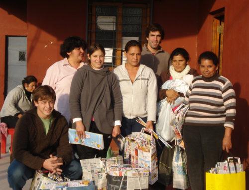 Inicios de Espacio Social. Proyecto Eco Bolsas. Barrio San Blas